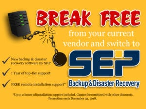 Break Free from vendor SEP promo yellow card server ball and broken chain