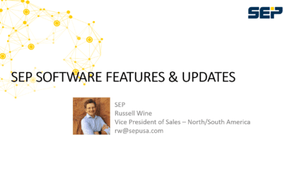 Webinar: SEP Features, Updates and News